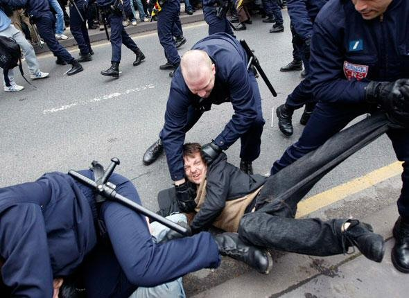 Arrestation musclée