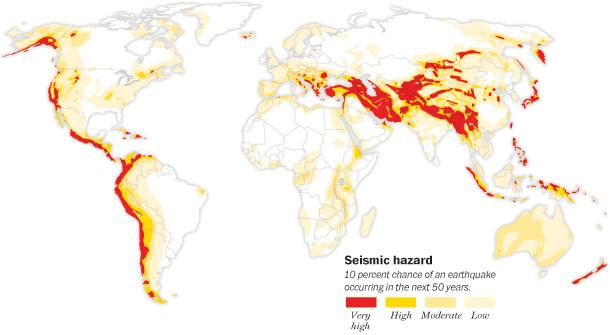 Centrales nucléaires en zones sismiques
