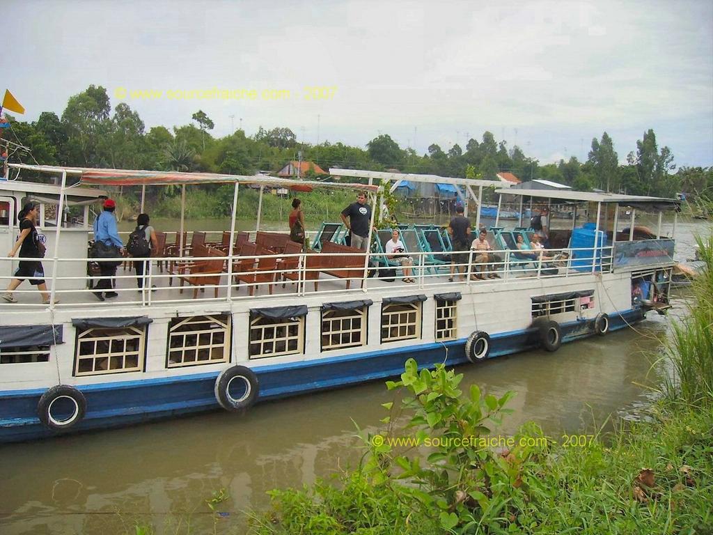 2007 – 4eme Jour – CAN THO – Diner sur le Mekong